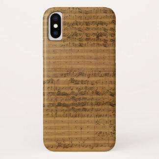 Vintage Sheet Music by Johann Sebastian Bach iPhone X Case