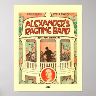 Vintage Sheet Music Cover Alexander's Ragtime Band Poster