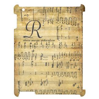 Vintage Sheet Music Monogram iPad Cases