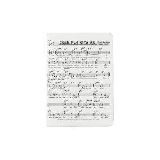 VINTAGE SHEET MUSIC PASSPORT HOLDER