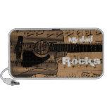 Vintage Sheet Music Rock N Roll Mini Speaker