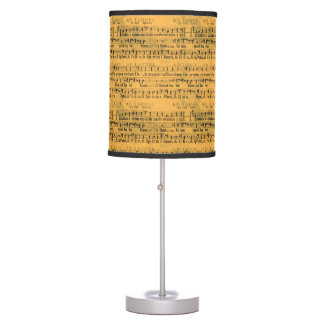 Vintage Sheet Music Table Lamp