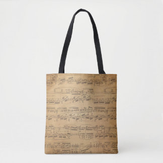 Vintage Sheet Music Tote