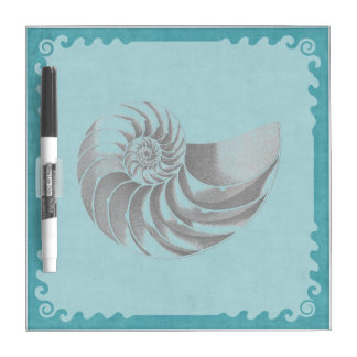 Vintage Shell Blue Dry-Erase Boards