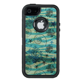 Vintage Shells And Starfish Pattern OtterBox iPhone 5/5s/SE Case