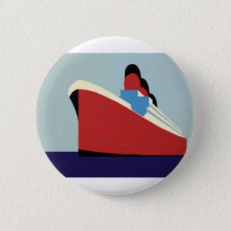 Vintage Ship 2 Inch Round Button