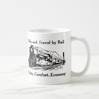 Vintage Ship and Travel By Rail Coffee Mug