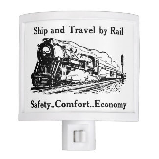Vintage Ship and Travel By Rail Nite Lites