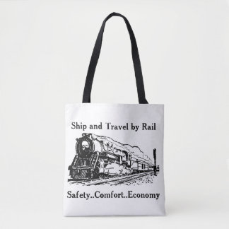 Vintage Ship and Travel By Rail Tote Bag