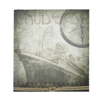 Vintage Ship Wind Rose Art Notepads