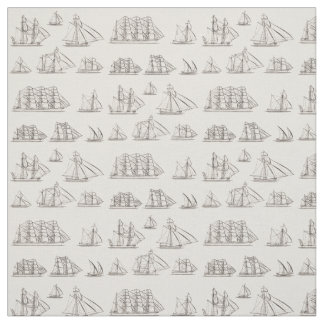 Vintage Ships Fabric