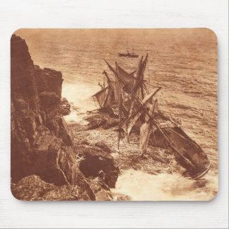 Vintage Shipwreck - Sailing Ship Antique Photo Mouse Pad