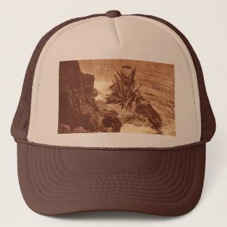Vintage Shipwreck - Sailing Ship Antique Photo Trucker Hat