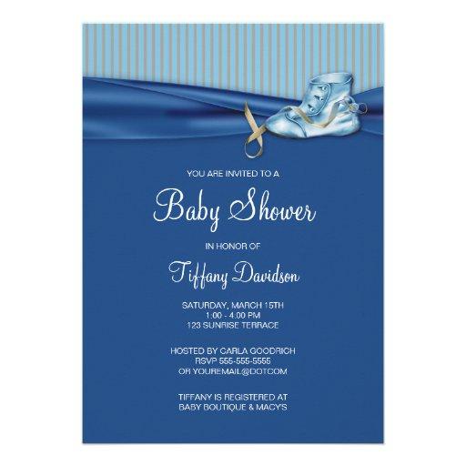 Vintage Shoe Boy Baby Shower Personalized Invitation