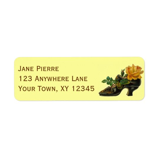 Vintage Shoe Return Address Label
