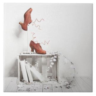 vintage shoe tile
