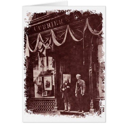 Vintage Shop Front Greeting Card