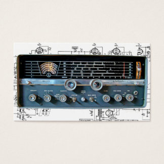 Vintage Short Wave Radio Business Cards