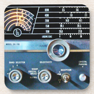 Vintage Short Wave Radio Receiver Coaster