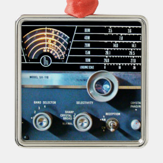 Vintage Short Wave Radio Receiver Metal Ornament