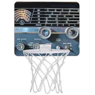 Vintage Short Wave Radio Receiver Mini Basketball Hoop