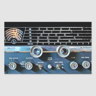 Vintage Short Wave Radio Receiver Sticker