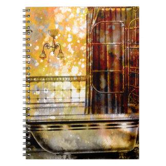 VINTAGE SHOWER BATH 2 SPIRAL NOTEBOOK