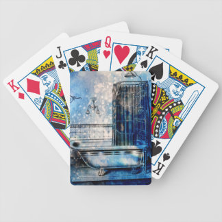 VINTAGE SHOWER BATH 3 BICYCLE PLAYING CARDS