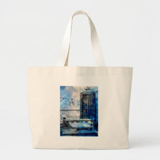 VINTAGE SHOWER BATH 3 LARGE TOTE BAG