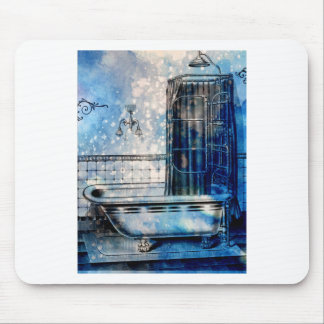 VINTAGE SHOWER BATH 3 MOUSE PAD