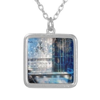 VINTAGE SHOWER BATH 3 SILVER PLATED NECKLACE