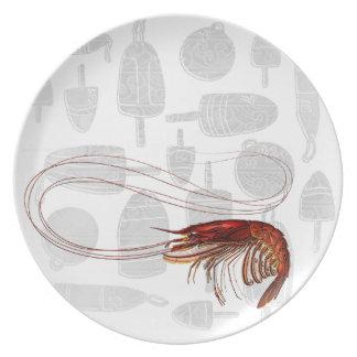 Vintage Shrimp Plate