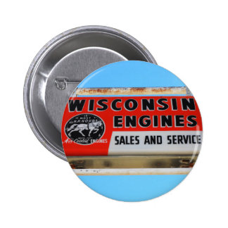 Vintage Sign Route 66 Kingman Wisconsin Engines Pinback Buttons