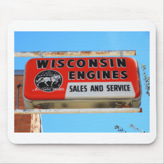 Vintage Sign Route 66 Kingman Wisconsin Engines Mouse Pads
