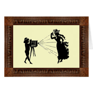 Vintage Silhouette ~ Picture Day! Card