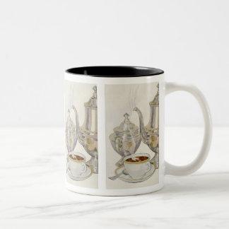 Vintage Silver Coffee Service Two-Tone Coffee Mug