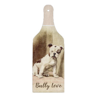 Vintage Simple Bully Love  Cutting Board