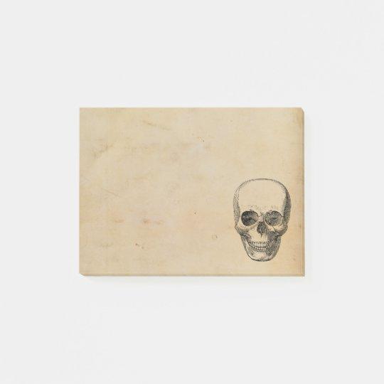 Vintage Simple Human Skull Illustration Post-it Notes