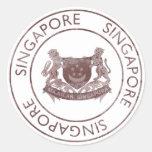 Vintage Singapore Round Stickers