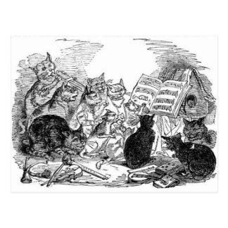 Vintage Singing Cats Postcards
