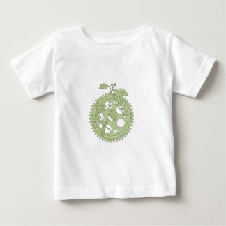 Vintage Single Ring Crank Hops Drawing Baby T-Shirt