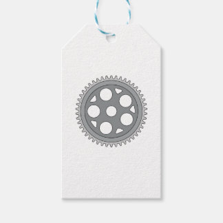 Vintage Single Ring Crank Retro Gift Tags