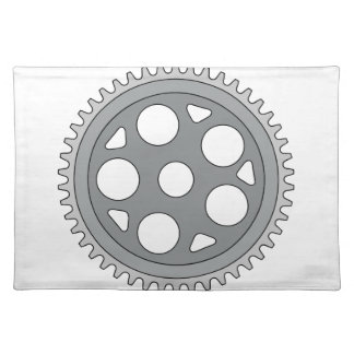 Vintage Single Ring Crank Retro Placemat