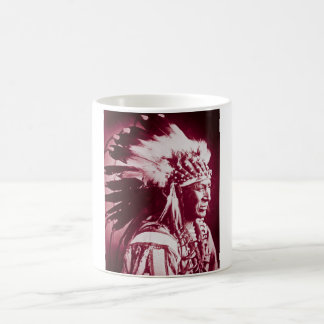 Vintage Sioux Lakota Chief White Swan Coffee Mug