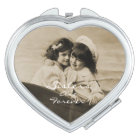 Vintage Sisters are Forever Compact Mirror