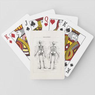 Vintage Skeleton Human Anatomy Bone Bones Skull Playing Cards