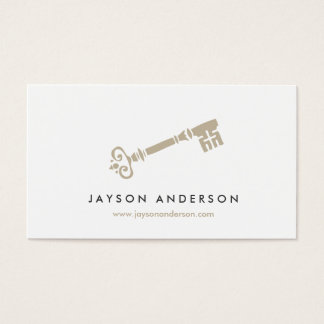 VINTAGE SKELETON KEY LOGO No. 1 Business Card