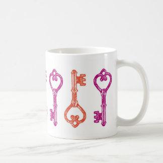 Vintage Skeleton Key Mug