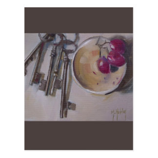 Vintage Skeleton Keys Postcard