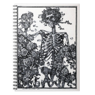 Vintage Skeleton Spiral Notebook